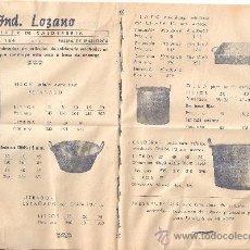 Catálogos publicitarios: IMPRESO FRANQUEADO CON PUBLICIDAD DE TALLER DE CALDERERÍA. Lote 33439777