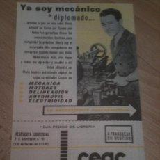 Catálogos publicitarios: FOLLETO PUBLICIDAD CURSOS CEAC - AÑOS 60. Lote 33488928
