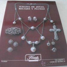 Catálogos publicitarios: CATALOGO DE SUBASTA DE JOYAS, RELOJES Y PLUMAS, FINARTE ESPAÑA, MAYO DE 2001,. Lote 33673738