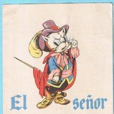 Catálogos publicitarios: EL SEÑOR DON GATO. TARJETÓN PUBLICITARIO. EDITORIAL DURÁN, BARCELONA. Lote 33999097