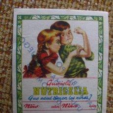 Catálogos publicitarios: QUINIELA NUTRICELIA.INDUSTRIAS RIERA-MARSA.. Lote 34198203