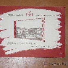 Catálogos publicitarios: CATALOGO ANTIGUO DE FIESTA MAYOR DE PALAFRUGELL 1957. PALAFURGELL. . Lote 34384822