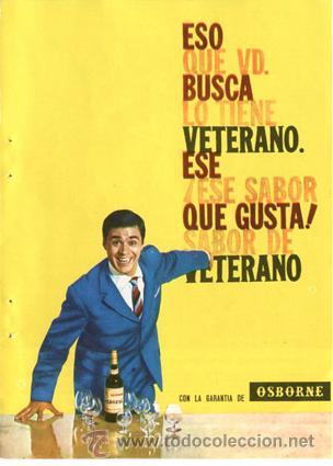 PÁGINA DE PUBLICIDAD ORIGINAL *VETERANO-OSBORNE* --- AÑO 1962 (Coleccionismo - Catálogos Publicitarios)