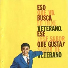 Catálogos publicitarios: PÁGINA DE PUBLICIDAD ORIGINAL *VETERANO-OSBORNE* --- AÑO 1962. Lote 34414870