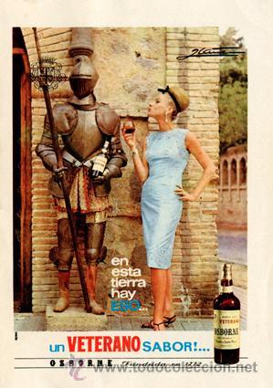 PÁGINA DE PUBLICIDAD ORIGINAL *VETERANO DE OSBORNE* -- AÑO 1965 (Coleccionismo - Catálogos Publicitarios)