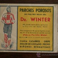 Catálogos publicitarios: PUBLICIDAD FARMACÉUTICA DE PARCHES POROSOS DEL DR. WINTER. Lote 34807428