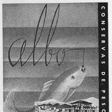 Catálogos publicitarios: PUBLICIDAD ANUNCIO DE CONSERVAS DE PESCADO ALBO VIGO AÑO 1938 TAMAÑO 17 X 13 CM.. Lote 35104172