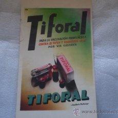 Catálogos publicitários: ANTIGUA PUBLICIDAD TIFORAL,AÑOS 30,40. Lote 35203837