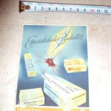 Catálogos publicitarios: CARTEL DE FARMACIA PRODUCTOS CODORNIU Y GARRIGA.S.A. Lote 35205958