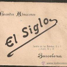 Catálogos publicitarios: GRANDES ALMACENES EL SIGLO. BARCELONA, 189?. 13,5X17CM. 79 P. ( 34 ILUST). . Lote 35280222