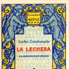 Catálogos publicitarios: LA LECHERA, LECHE CONDENSADA AÑOS 30. Lote 35443779