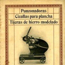 Catálogos publicitarios: CATALOGO 1 STARHLWERK OEKING , PUNZONADORAS, CIZALLAS PARA PLANCHA ,TIJERAS DE HIERRO MODELADO. Lote 35481144