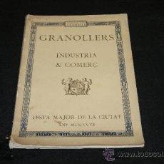 Catálogos publicitarios: CATALOGO DE FESTA MAJOR DE GRANOLLERS, 1927. Lote 205653436