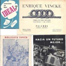 Catálogos publicitarios: PS3396 LOTE DE 8 FOLLETOS PUBLICITARIOS DE DIFERENTES TEMAS Y LUGARES. AÑOS 50 - 60. Lote 35760993