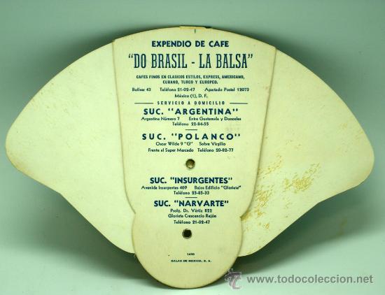 Catálogos publicitarios: Pay Pay Pai pai desplegable publicidad Expendio Café La Balsa Do Brasil México DF años 50 - Foto 3 - 126635339