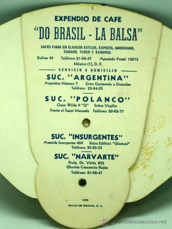 Catálogos publicitarios: Pay Pay Pai pai desplegable publicidad Expendio Café La Balsa Do Brasil México DF años 50 - Foto 4 - 126635339