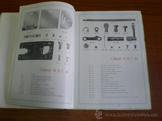 Catálogos publicitarios: CATÁLOGO MÁQUINA DE COSER WERTHEIM-RAPIDA, S.A. CATÁLOGO GENERAL DE PIEZAS Y ACCESORIOS. - Foto 3 - 36085819