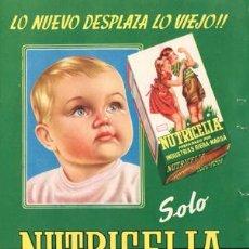 Catálogos publicitarios: PÁGINA PUBLICIDAD ORIGINAL *NUTRICELIA. ALIMENTO INFANTIL* INDUSTRIAS RIERA-MARSÁ - AÑO 1956. Lote 36044426