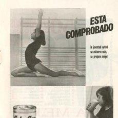 Catálogos publicitarios: PÁGINA PUBLICIDAD ORIGINAL *COLA-CAO · GIMNASTA* -- AÑO 1967. Lote 36049765