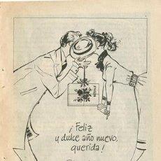 Catálogos publicitarios: PÁGINA PUBLICIDAD ORIGINAL *CHOCOLATES NESTLÉ · FELIZ AÑO NUEVO · PAREJA* - VINTAGE-RETRO- AÑO 1955. Lote 36094960