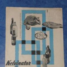 Catálogos publicitarios: KELVINATOR FRIGORIFICO AMERICANO FOLLETO PUBLICITARIO AÑOS 60 . Lote 36132263