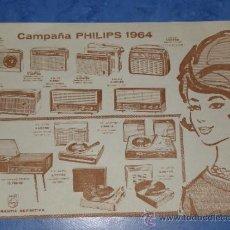 Catálogos publicitarios: PHILIPS FOLLETO PUBLICITARIO CAMPAÑA 1964 ORIGINAL. Lote 36133238