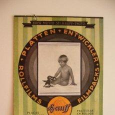 Catálogos publicitarios: PUBLICIDAD HAUFF. PLACAS REVELADORAS Y PELÍCULAS EN ROLLOS FILMPACKS. STUTTGART.. Lote 36101511