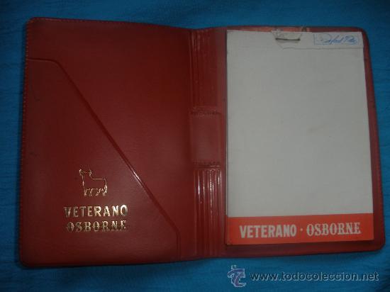 ANTIGUA LIBRETA DE PUBLICIDAD -VETERANO OSBORNE- (Coleccionismo - Catálogos Publicitarios)