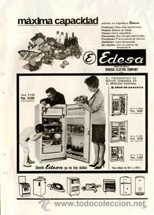 P gina publicidad original frigor ficos edesa comprar - Frigorificos general electric espana ...