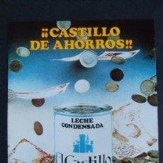 Catálogos publicitarios: DIPTICO LECHE CONDENSADA EL CASTILLO PREMIOS!!. Lote 26761427