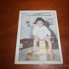 Catálogos publicitarios: FOLLETO PUBLICITARIO DE MAIZENA AÑOS 60. Lote 36172656