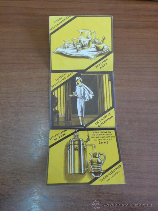 Catálogos publicitarios: FOLLETO PUBLICITARIO DESPLEGABLE E ILUSTRADO. ESTERILIZADORES DE AGUA SAAS. (VER FOTOS ADICIONALES). - Foto 2 - 36347323