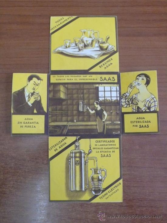 Catálogos publicitarios: FOLLETO PUBLICITARIO DESPLEGABLE E ILUSTRADO. ESTERILIZADORES DE AGUA SAAS. (VER FOTOS ADICIONALES). - Foto 3 - 36347323