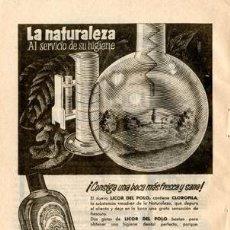 Catálogos publicitarios: PÁGINA PUBLICIDAD ORIGINAL *LICOR DEL POLO · ORIVE* -- AÑO 1957. Lote 36214093