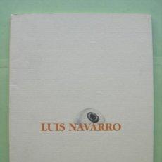 Catálogos publicitarios: LUIS NAVARRO CATÁLOGO PINTURAS. Lote 36455009