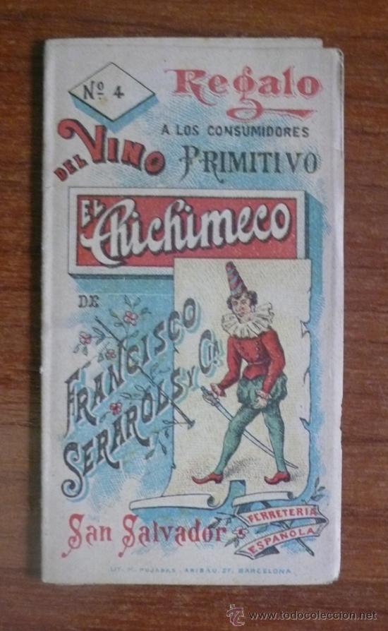 FOLLETO PUBLICITARIO VINO EL CHICHIMECO. ILUSTRADO CON MUÑECOS. EL SALVADOR. AMÉRICA CENTRAL. (Coleccionismo - Catálogos Publicitarios)