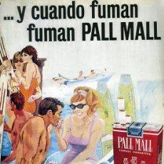 Catálogos publicitarios: PUBLICIDAD ANUNCIO DE CIGARRILLOS PALL MALL CIGARETTES U. S. A. TABACO AÑO 1965. Lote 36834955