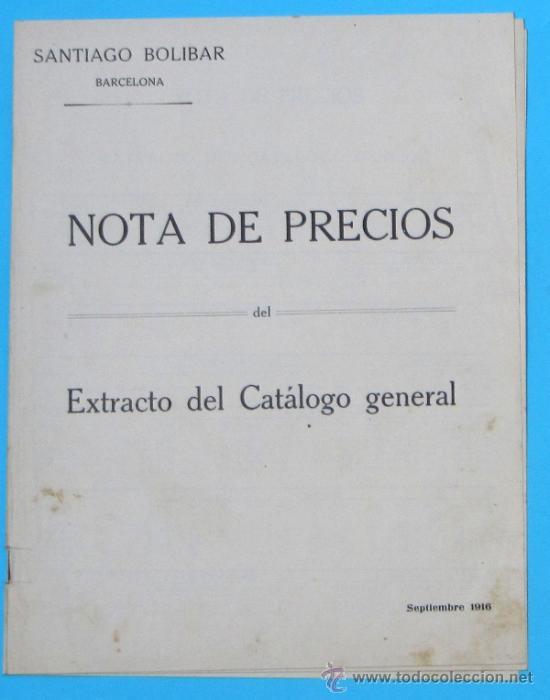 Catálogos publicitarios: SANTIAGO BOLIBAR. BARCELONA. HERRAJES PARA MUEBLES. EXTRACTO DEL CATALOGO GENERAL, 1916. - Foto 2 - 36937395