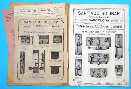Catálogos publicitarios: SANTIAGO BOLIBAR. BARCELONA. HERRAJES PARA MUEBLES. EXTRACTO DEL CATALOGO GENERAL, 1916. - Foto 3 - 36937395