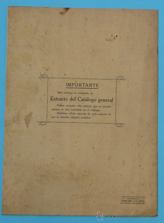 Catálogos publicitarios: SANTIAGO BOLIBAR. BARCELONA. HERRAJES PARA MUEBLES. EXTRACTO DEL CATALOGO GENERAL, 1916. - Foto 7 - 36937395
