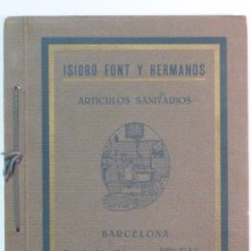 Catálogos publicitarios: ISIDRO FONT Y HERMANOS - CATÁLOGO DE MUEBLES Y COMPLEMENTOS PARA EL BAÑO – 1928. Lote 36957591