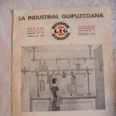 Catálogos publicitarios: CATALOGO LA INDUSTRIAL GUIPUZCOANA FABRICAS LIG EIBAR ELGOIBAR . Lote 37070287