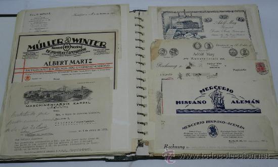 Catálogos publicitarios: ANTIGUO ALBUM DE TARJETAS, FACTURAS Y DOCUMENTOS COMERCIALES DE CASAS EDITORIALES, LIBRERIAS, FABRIC - Foto 2 - 37137403