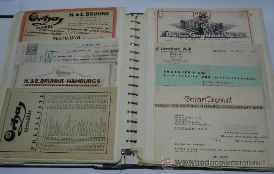 Catálogos publicitarios: ANTIGUO ALBUM DE TARJETAS, FACTURAS Y DOCUMENTOS COMERCIALES DE CASAS EDITORIALES, LIBRERIAS, FABRIC - Foto 3 - 37137403