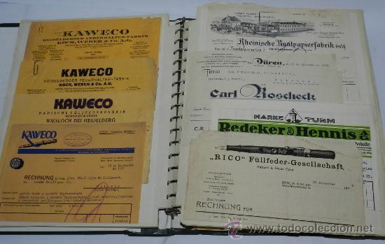 Catálogos publicitarios: ANTIGUO ALBUM DE TARJETAS, FACTURAS Y DOCUMENTOS COMERCIALES DE CASAS EDITORIALES, LIBRERIAS, FABRIC - Foto 4 - 37137403