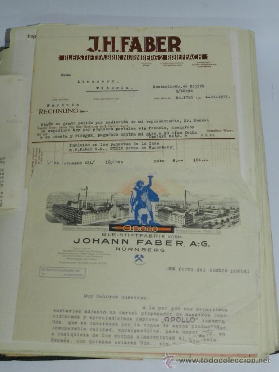 Catálogos publicitarios: ANTIGUO ALBUM DE TARJETAS, FACTURAS Y DOCUMENTOS COMERCIALES DE CASAS EDITORIALES, LIBRERIAS, FABRIC - Foto 5 - 37137403