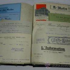 Catálogos publicitarios: ANTIGUO ALBUM DE TARJETAS, FACTURAS Y DOCUMENTOS COMERCIALES DE CASAS EDITORIALES, LIBRERIAS, FABRIC. Lote 37138019