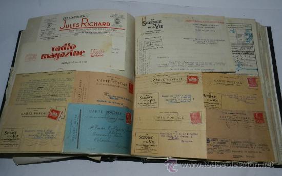 Catálogos publicitarios: ANTIGUO ALBUM DE TARJETAS, FACTURAS Y DOCUMENTOS COMERCIALES DE CASAS EDITORIALES, LIBRERIAS, FABRIC - Foto 2 - 37138019