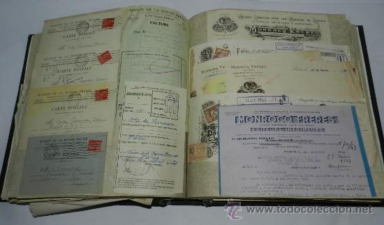 Catálogos publicitarios: ANTIGUO ALBUM DE TARJETAS, FACTURAS Y DOCUMENTOS COMERCIALES DE CASAS EDITORIALES, LIBRERIAS, FABRIC - Foto 3 - 37138019