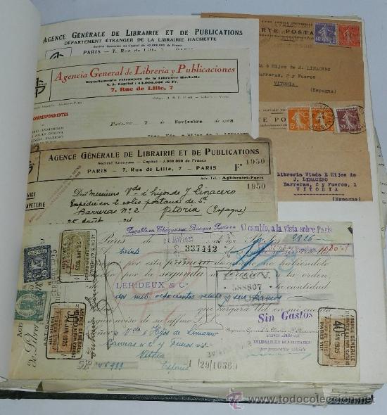 Catálogos publicitarios: ANTIGUO ALBUM DE TARJETAS, FACTURAS Y DOCUMENTOS COMERCIALES DE CASAS EDITORIALES, LIBRERIAS, FABRIC - Foto 6 - 37138019